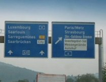 This autobahn sign near my home in Germany