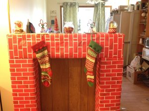 We needed a  spot to hang our stockings.